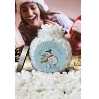 Personalised Snowman Marshmallow Poo Jar