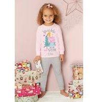 Younger Girls Personalised Peppa Pig Pyjamas
