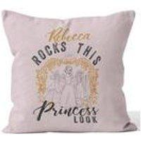 Personalised Disney Princess Princess Rocks Cushion