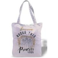Personalised Disney Princess Rocks Canvas Tote Bag