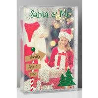 Personalised Santa + Me Glitter Photo Frame