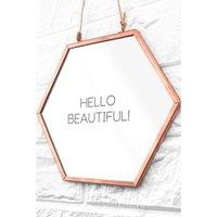 Personalised Hexagon Copper Mirror