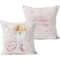 Personalised Winnie the Pooh and Piglet Grand Adventure Cushion
