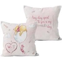 Personalised Winnie the Pooh and Piglet Any Day Cushion