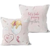 Personalised Winnie the Pooh and Piglet Journey Cushion