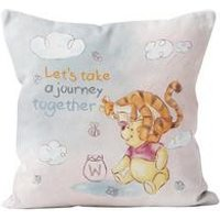 Personalised Winnie the Pooh and Tigger Journey Cushion