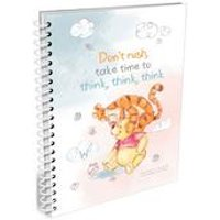 Personalised Winnie the Pooh and Tigger Dont Rush A5 Notepad