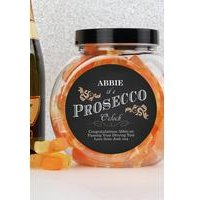 Personalised Its Prosecco OClock Prosecco Gummies Jar