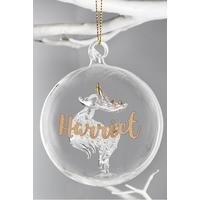 Personalised Glass Reindeer Decoration