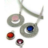 Personalised Eternity Birthstone Necklace