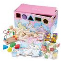 Personalised Unicorn 7-In-1 Activity Trunk