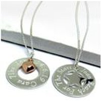 Eternity Necklace With Sterling Silver Mini Charm