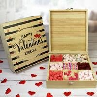 Personalised Wooden Valentines Box