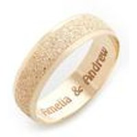 Personalised 6mm 9ct Yellow Gold Sparkle Wedding Band