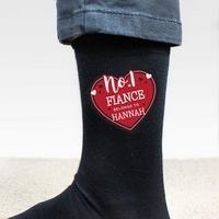 Personalised No.1 Heart Mens Socks