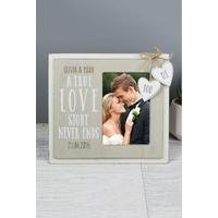 Personalised Love Story Wooden Photo Frame