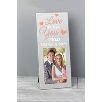 Personalised Love Is All You Need Mini Photo Frame