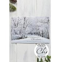 Personalised Foil Winter Scene Cards