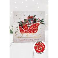Personalised Foil Sleigh Cards