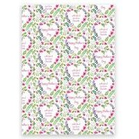 Personalised Floral Mothers Day Gift Wrap