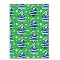 Personalised Football Gift Wrap