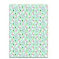 Personalised Flamingo and Pinapple Gift Wrap