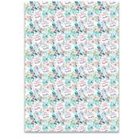 Personalised Floral Gift Wrap