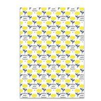 Personalised Yellow Flowers Gift Wrap