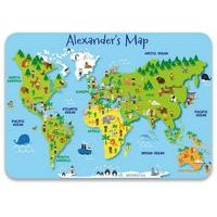Personalised Map of the World Place Mat