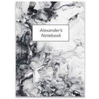 Personalised Carrara Notebook