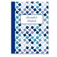 Personalised Blue Squares Notebook