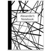 Personalised Black and White Notebook
