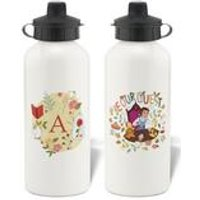 Personalised Disney Princess Belle Initial Water Bottle