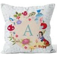 Personalised Disney Princess Snow White Initial Cushion