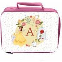 Personalised Disney Princess Belle Initial Lunch Bag