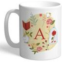 Personalised Disney Princess Belle Initial Mug
