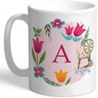 Personalised Disney Princess Aurora Initial Mug