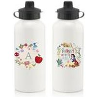 Personalised Disney Princess Snow White Initial Water Bottle