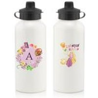 Personalised Disney Princess Rapunzel Initial Water Bottle