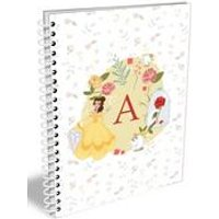 Personalised Disney Princess Belle Initial A5 Notebook