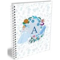 Personalised Disney Princess Cinderella Initial A5 Notebook