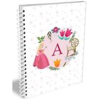 Personalised Disney Princess Aurora Initial A5 Notebook