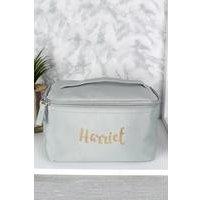 Personalised Gold Name Make Up Wash Bag