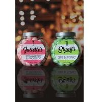 Personalised Prosecco, Gin and Tonic Sweet Jar Set