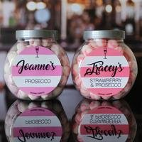 Personalised Prosecco Flavour Sweet Jar Set