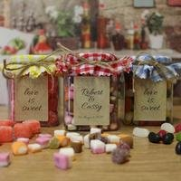 Personalised Rustic Sweet Jar Trio
