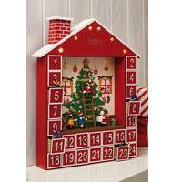 Personalised Wooden Light Up Advent Calendar