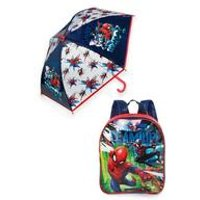 Personalised Spiderman Backpack and Umbrella Set
