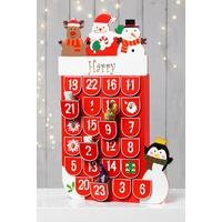 Personalised Wooden Stocking Advent Calendar