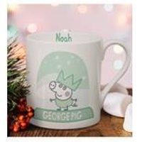 Personalised Peppa Pig George Pig Snowglobe Balmoral Mug